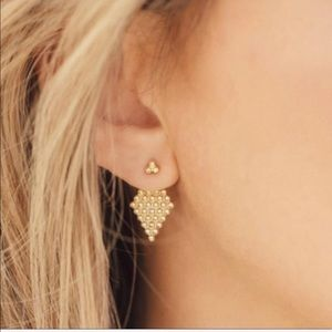Gold Jacket Earrings